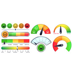 Pain scale meter smile and sad emotion measure vector