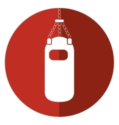 punching bag training gym icon shadow vector image