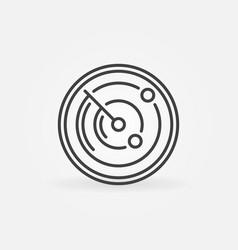 radar screen outline concept round icon vector image