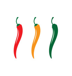 Red hot natural chili icon vector