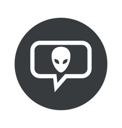 Round alien dialog icon vector