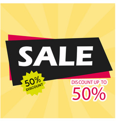 sale discount up to 50 image vector image