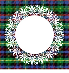Scottish tartan Black Watch with frame vector image