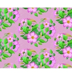 seamless background watercolor flowers vector image