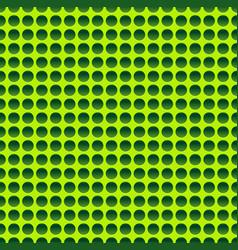 Seamless circle pattern in vivid green vector