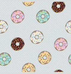 seamless pattern donut with glaze vector image