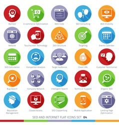 seo icons set 04f vector image