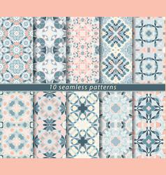 Set of ten seamless patterns vector