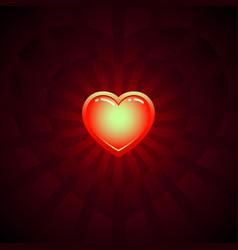 Shine heart image vector