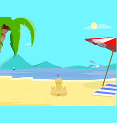summer beach background day time empty landscape vector image
