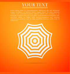 sun protective umbrella fo beach icon isolated vector image
