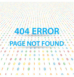 Symbol 404 error page not found on a digital vector