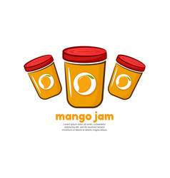 template logo for mango jam vector image