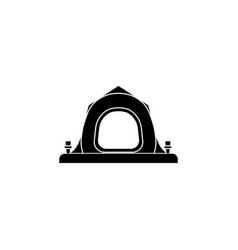 tent icon black on white background vector image