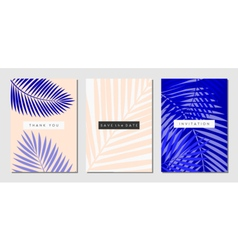 Tropical Foliage Cards Set vector