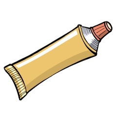Tube of toothpaste and other paste vector