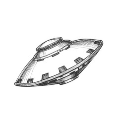 ufo unidentified flying object monochrome vector image