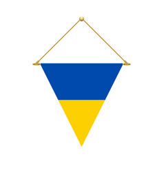 ukrainian triangle flag hanging vector image