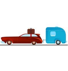 Vintage camping car vector