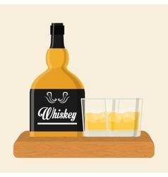 Whiskey icon design vector