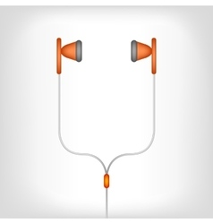 white earphones vector image