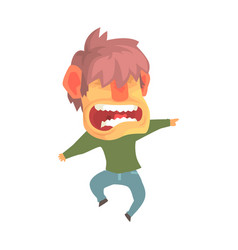 young angry screaming man despair aggressive vector image
