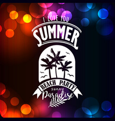Banner for night summer beach party vector