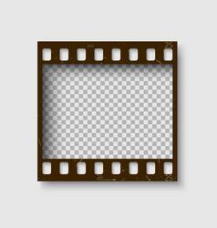 Frame of 35 mm filmstrip empty blanck photo vector