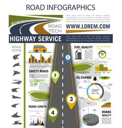 road infographics for presentation design vector image vector image