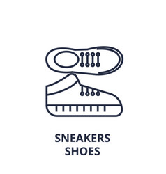 sneakers shoes line icon outline sign linear vector image
