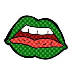 comic cartoon sexy halloween lips symbol vector image vector image