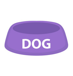 dog bowl for food icon flat cartoon style vector image vector image
