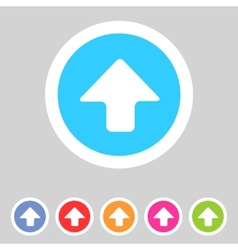 Flat game graphics icon arrow up vector image