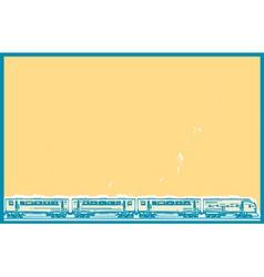 Orange Sky Train vector image