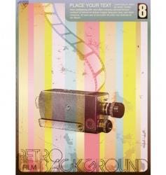 retro movie poster vector image vector image