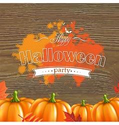Autumn leafs and pumpkins frame vector