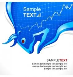 bull frame business vector image