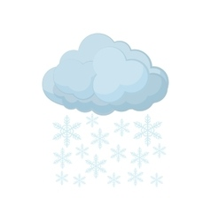 Cloud and snowflakes icon cartoon style vector image vector image