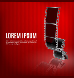 filmstrip on a red background vector image