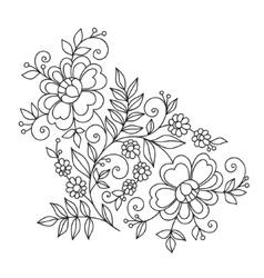 Flower design element Drawing flowers vector image vector image