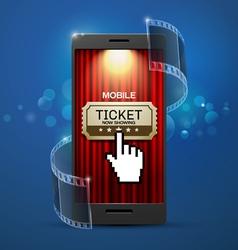 movie cinema ticket vector image vector image