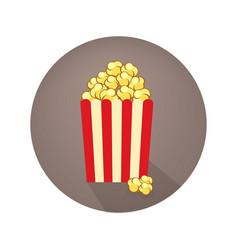 movie poster template popcorn cinema design vector image