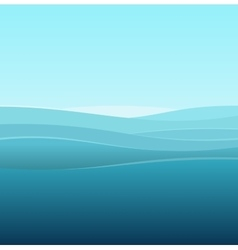 Sea Abstract Background of Blue Waves vector image