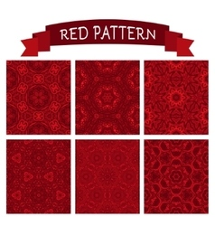 abstract red christmas background set vector image