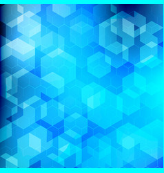abstract technology blue geometric hexagon vector image