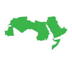 Arab world states blank political map of 22 vector