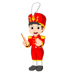 boy marching band vector image vector image