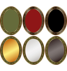 oval backgrounds vector image vector image
