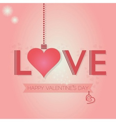 Valentines day design element vector image vector image