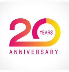 20 anniversary classic logo vector image